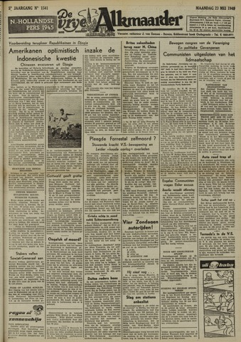 De Vrije Alkmaarder 1949-05-23