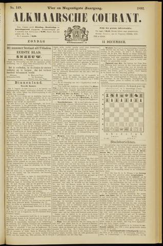 Alkmaarsche Courant 1892-12-11