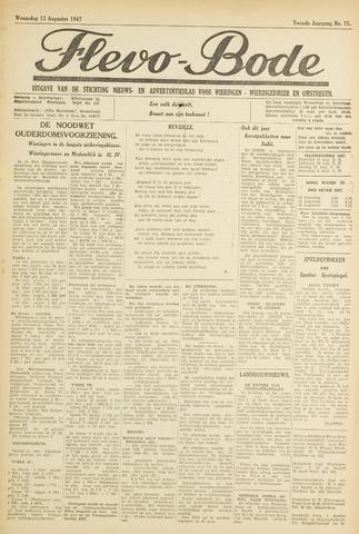 Flevo-bode: nieuwsblad voor Wieringen-Wieringermeer 1947-08-13