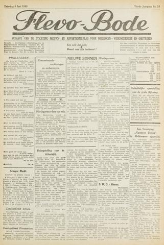 Flevo-bode: nieuwsblad voor Wieringen-Wieringermeer 1949-06-04