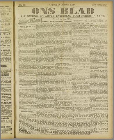 Ons Blad : katholiek nieuwsblad voor N-H 1919-01-17