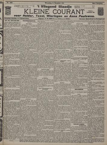 Vliegend blaadje : nieuws- en advertentiebode voor Den Helder 1910-12-21