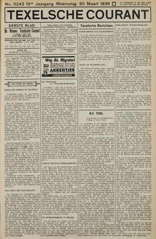 Texelsche Courant 1938-03-30