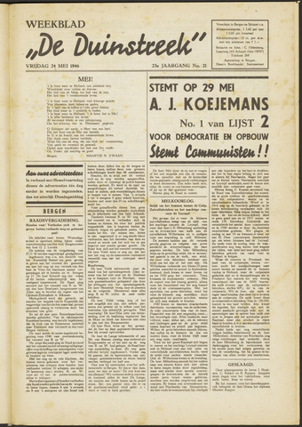 De Duinstreek 1946-05-24