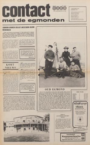 Contact met de Egmonden 1976-11-03