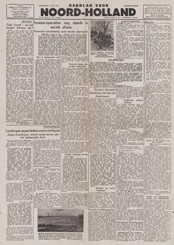 Dagblad Noord-Holland, Schager editie 1944-06-15
