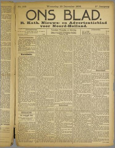 Ons Blad : katholiek nieuwsblad voor N-H 1908-12-23