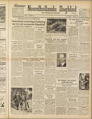 Nieuw Noordhollandsch Dagblad : voor Alkmaar en omgeving 1947-08-01