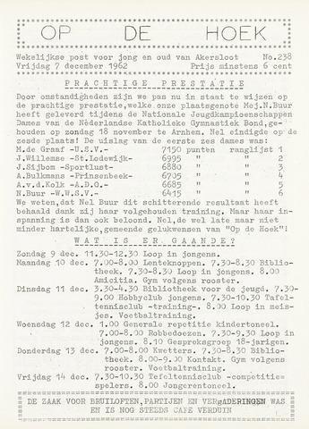 Op De Hoek, weekblad voor Akersloot 1962-12-07