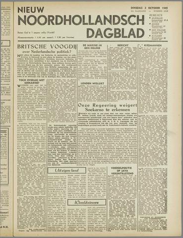 Nieuw Noordhollandsch Dagblad : voor Alkmaar en omgeving 1945-10-02