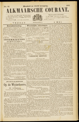 Alkmaarsche Courant 1902-05-02