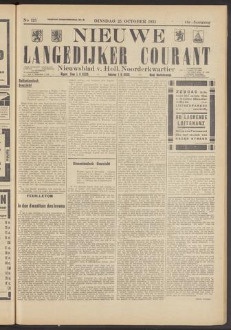 Nieuwe Langedijker Courant 1932-10-25