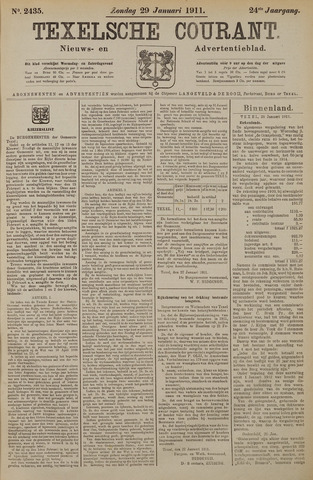 Texelsche Courant 1911-01-29