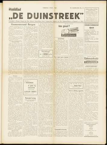 De Duinstreek 1960-11-04