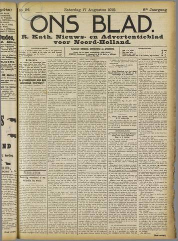 Ons Blad : katholiek nieuwsblad voor N-H 1912-08-17