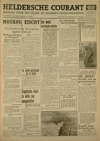 Heldersche Courant 1939-09-28
