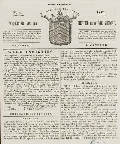 Weekblad van Den Helder en het Nieuwediep 1848-01-24