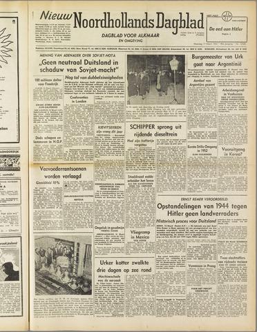 Nieuw Noordhollandsch Dagblad : voor Alkmaar en omgeving 1952-03-17