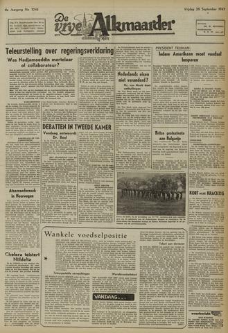 De Vrije Alkmaarder 1947-09-26