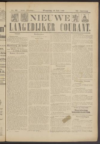 Nieuwe Langedijker Courant 1920-07-28