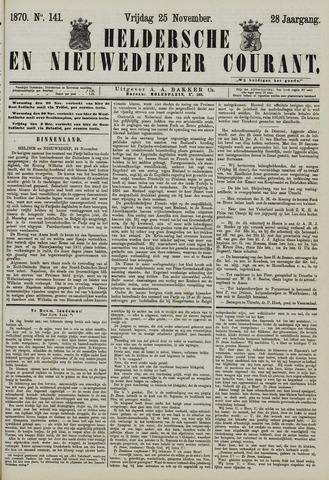 Heldersche en Nieuwedieper Courant 1870-11-25