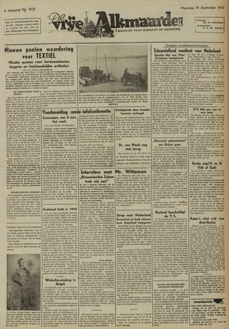 De Vrije Alkmaarder 1947-09-15
