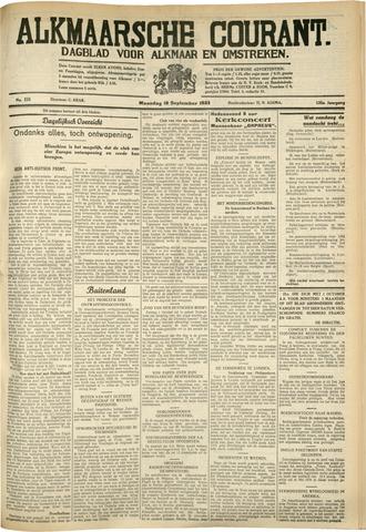 Alkmaarsche Courant 1933-09-18