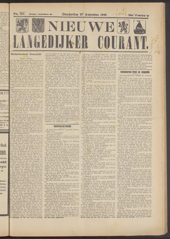 Nieuwe Langedijker Courant 1925-08-27