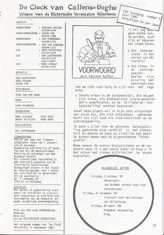 De Clock van Callens-Ooghe 1987-06-01