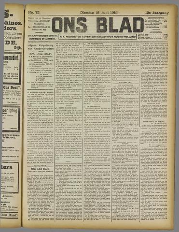 Ons Blad : katholiek nieuwsblad voor N-H 1918-06-18