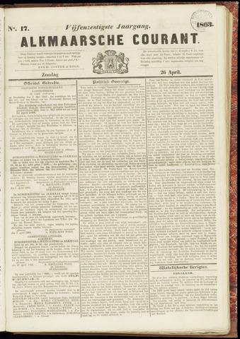 Alkmaarsche Courant 1863-04-26