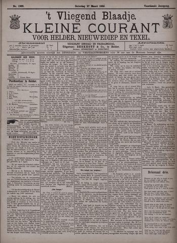 Vliegend blaadje : nieuws- en advertentiebode voor Den Helder 1886-03-27