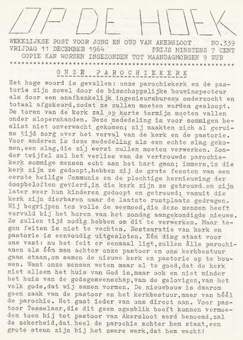 Op De Hoek, weekblad voor Akersloot 1964-12-11