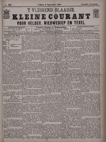 Vliegend blaadje : nieuws- en advertentiebode voor Den Helder 1881-09-09