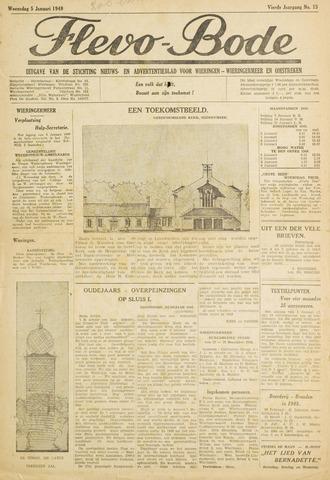 Flevo-bode: nieuwsblad voor Wieringen-Wieringermeer 1949-01-05