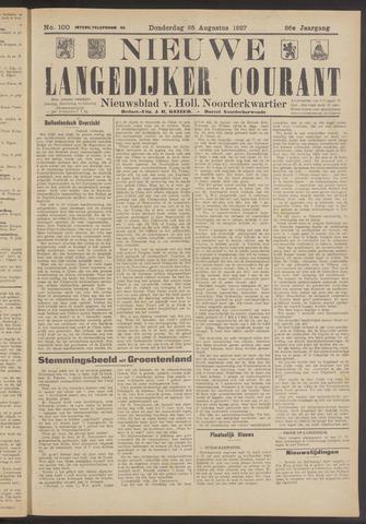 Nieuwe Langedijker Courant 1927-08-25