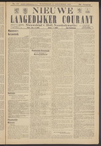 Nieuwe Langedijker Courant 1930-12-31