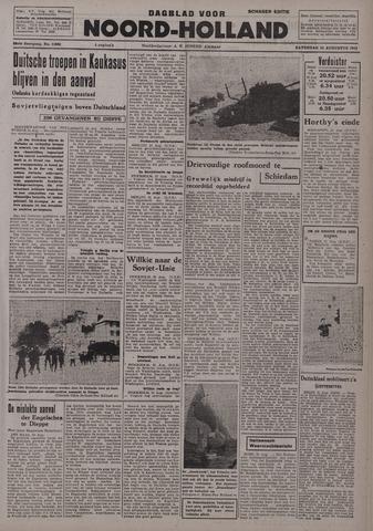 Dagblad Noord-Holland, Schager editie 1942-08-22