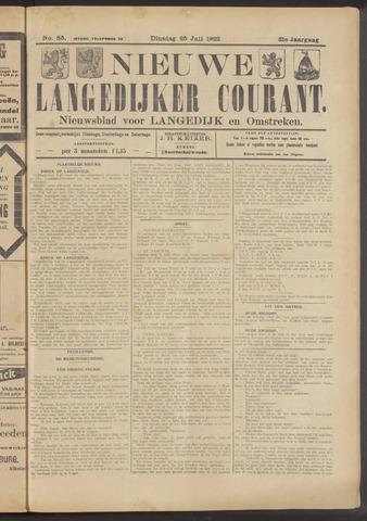 Nieuwe Langedijker Courant 1922-07-25