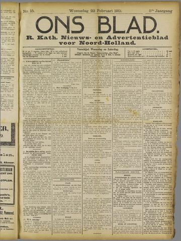 Ons Blad : katholiek nieuwsblad voor N-H 1911-02-22