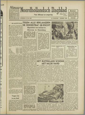 Nieuw Noordhollandsch Dagblad : voor Alkmaar en omgeving 1946-07-27