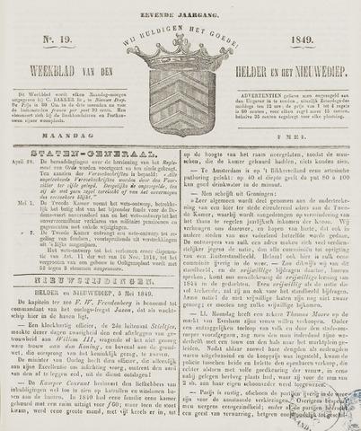 Weekblad van Den Helder en het Nieuwediep 1849-05-07