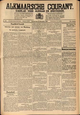 Alkmaarsche Courant 1934-12-27