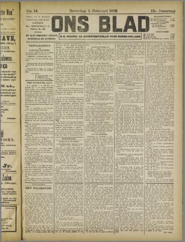 Ons Blad : katholiek nieuwsblad voor N-H 1918-02-02