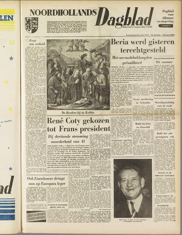 Noordhollands Dagblad : dagblad voor Alkmaar en omgeving 1953-12-24