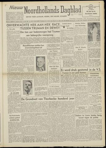 Nieuw Noordhollandsch Dagblad : voor Alkmaar en omgeving 1948-11-03