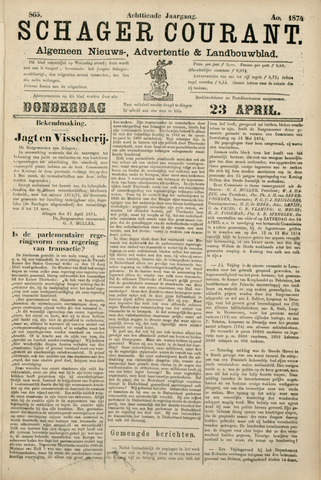 Schager Courant 1874-04-23