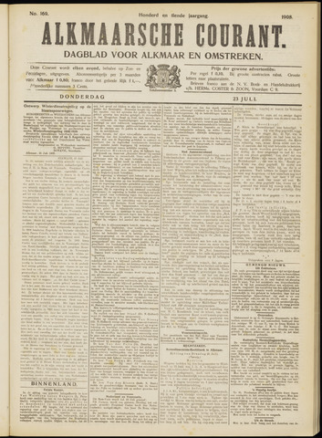 Alkmaarsche Courant 1908-07-23