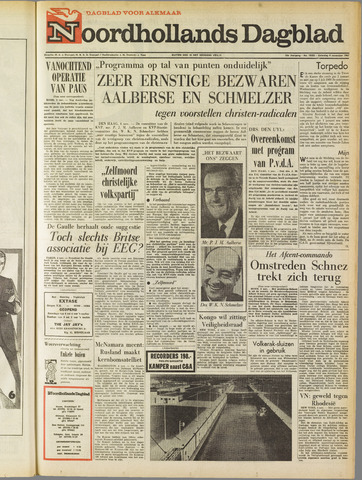 Noordhollands Dagblad : dagblad voor Alkmaar en omgeving 1967-11-04