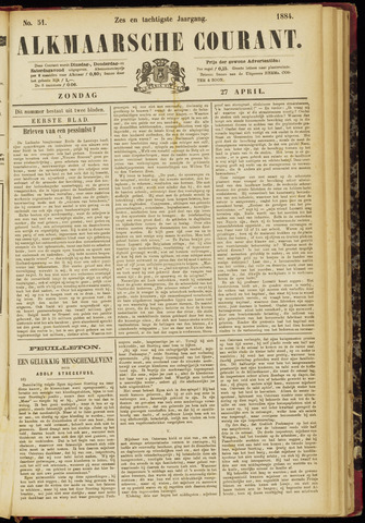 Alkmaarsche Courant 1884-04-27